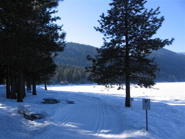 Lake Wenatchee in winter