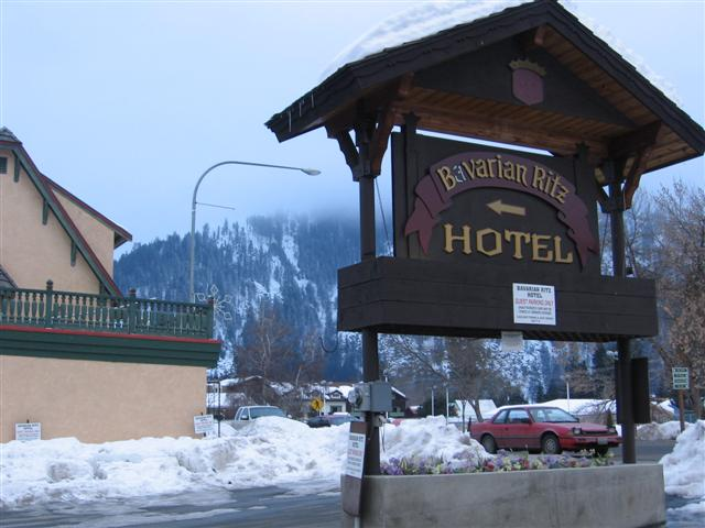 Leavenworth Hotel in Winter