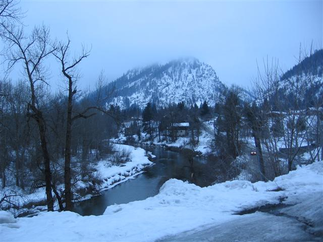 Wenatchee River fork in Winter