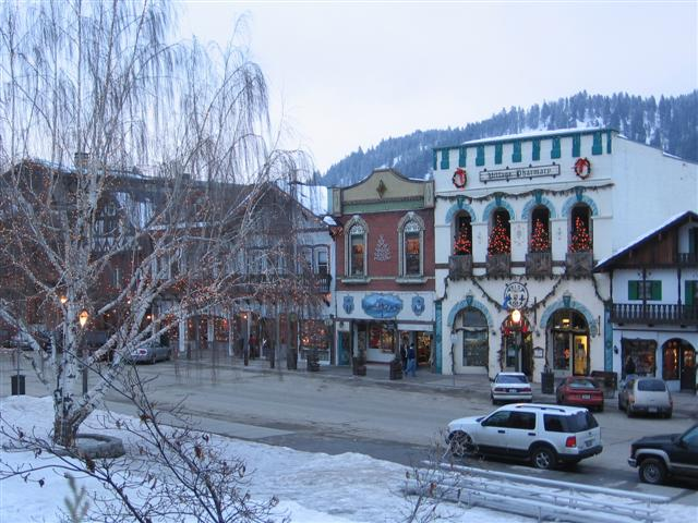 Leavenworth Architecture in Winter
